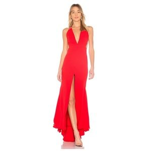Free People Fame Partners Red Surreal Maxi Dress 6